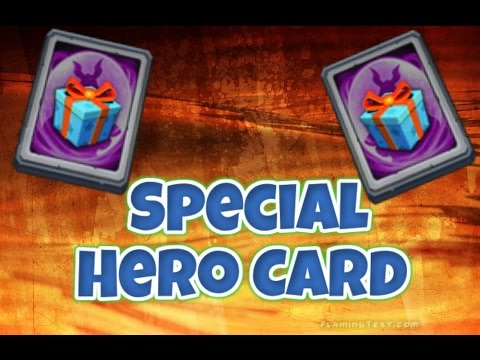 Castle Clash- Special Hero Card Opening !!