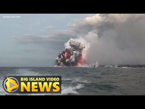 Hawaii Eruption: USGS Explains Lava Explosions At Ocean Entry (July 16, 2018)