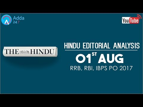 The Hindu Editorial Analysis | 1st August 2017 | IBPS, RRB PO | Online Coaching for SBI, IBPS