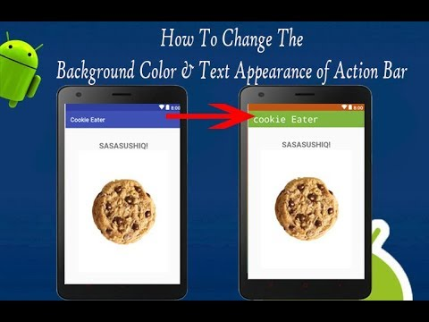 How To Change Action Bar Background Color And Title Color | Android App Development Video#09