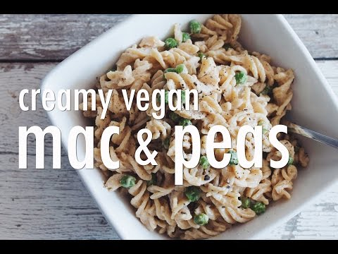 creamy vegan mac & peas | hot for food (collab with the edgy veg)