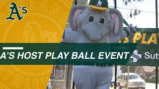 Athletics host first Play Ball at Brookdale Park