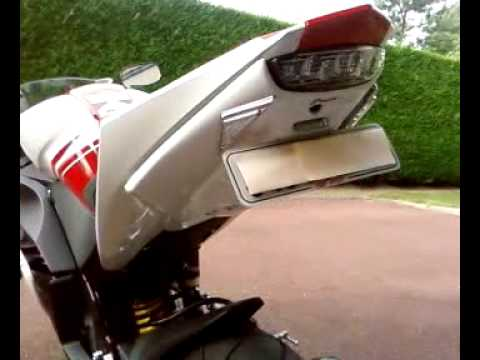 yzf r125 support de plaque ermax youtube. Black Bedroom Furniture Sets. Home Design Ideas