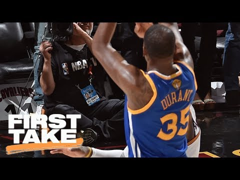 Did Kevin Durant's 3-Pointer Prove He Passed LeBron James As The Best? | First Take | June 8, 2017