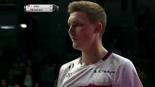TOTAL BWF World Championships 2017 | Badminton Day 2 M11-MS | Takuma Ueda vs Viktor Axelsen