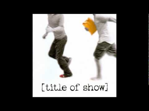 An Original Musical - [title of show]
