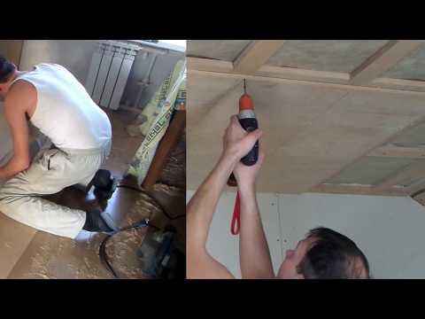 Как сделать потолок из фанеры своими руками