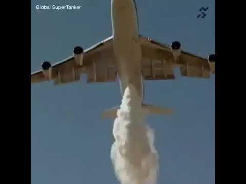 Dünyanın en byük yangın söndürme uçağının söndürme gösterileri