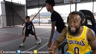 FLIGHT REACTS GETS DROPPED OFF BY A 13 YEAR OLD IN BASKETBALL!