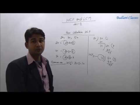 BANK / SSC : Maths : Chapter : HCF : LCM : Lecture 1