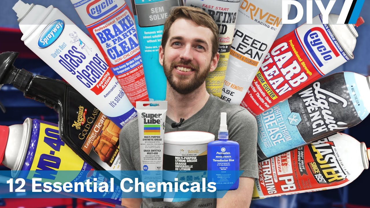 12 essential automotive chemicals for your garage