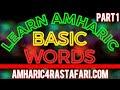 Learn Amharic -  Basic Amharic Words 1