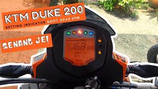 KTM Duke 200 Setting Indicator Shift Gear RPM