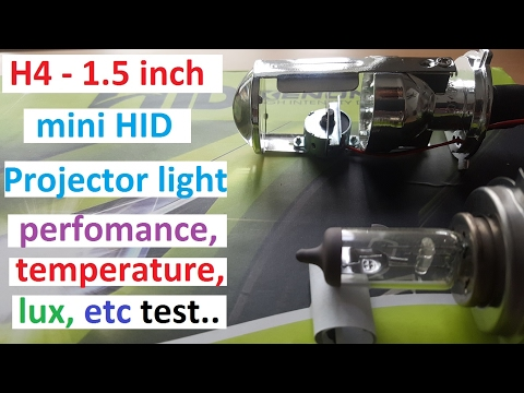 H4 1.5 Inch Mini Projector Headlight Bulb Tired And Tested.