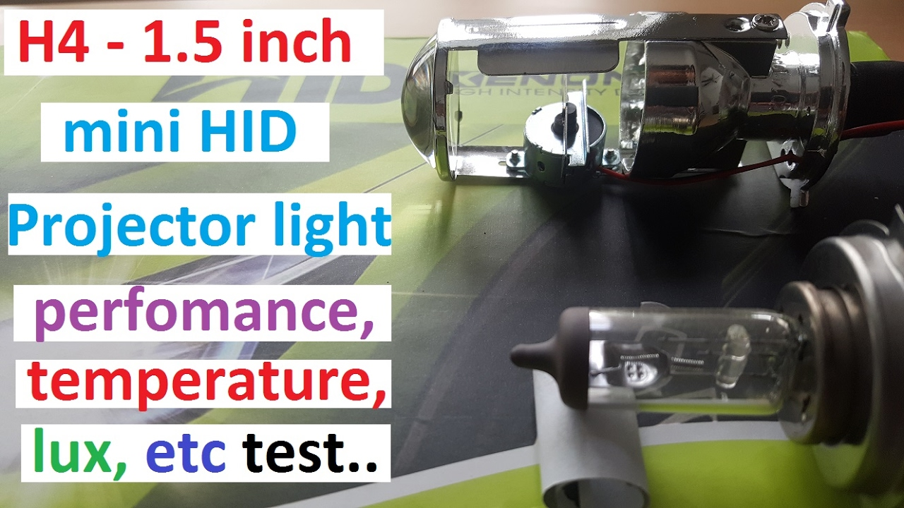 H4 1 5 Inch Mini Projector Headlight Bulb Tired And Tested Youtube