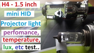 H4 1.5 inch Mini projector Headlight bulb tired and tested. Video