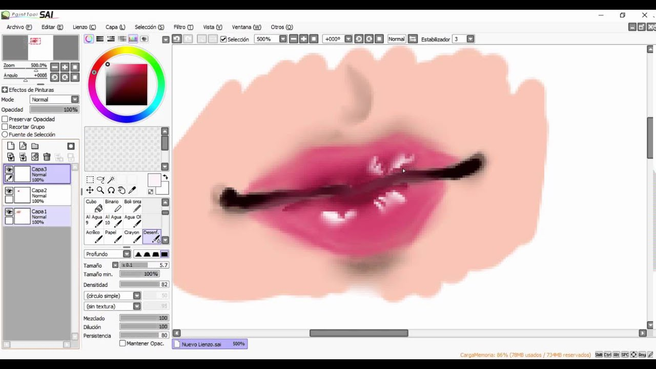 How To Draw Blood On Paint Tool Sai
