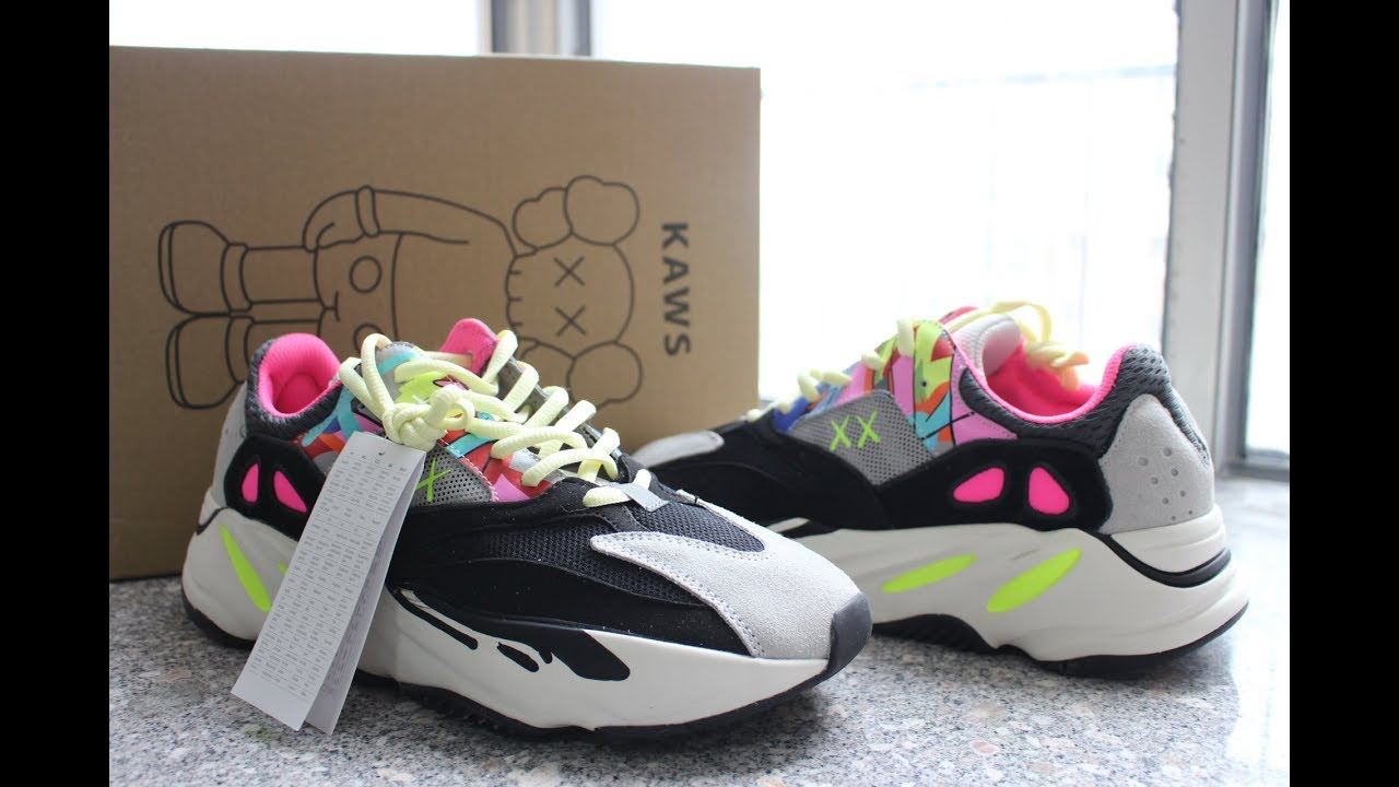 quality design 645ac c951b KAWS X ADIDAS YEEZY 700 WAVE RUNNER CUSTOMIZED PAIR REVIEW