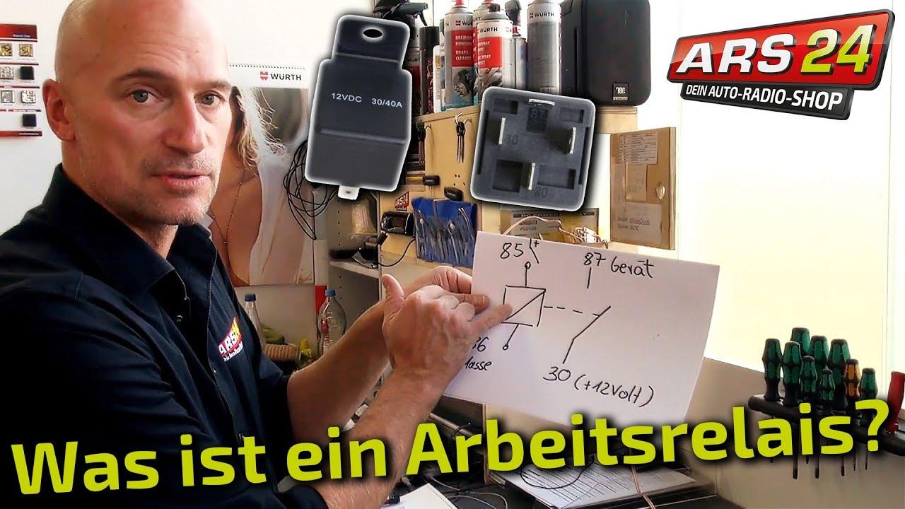 Relais anschließen -Tutorial- ARS24 zeigt ein Arbeitsrelais - YouTube