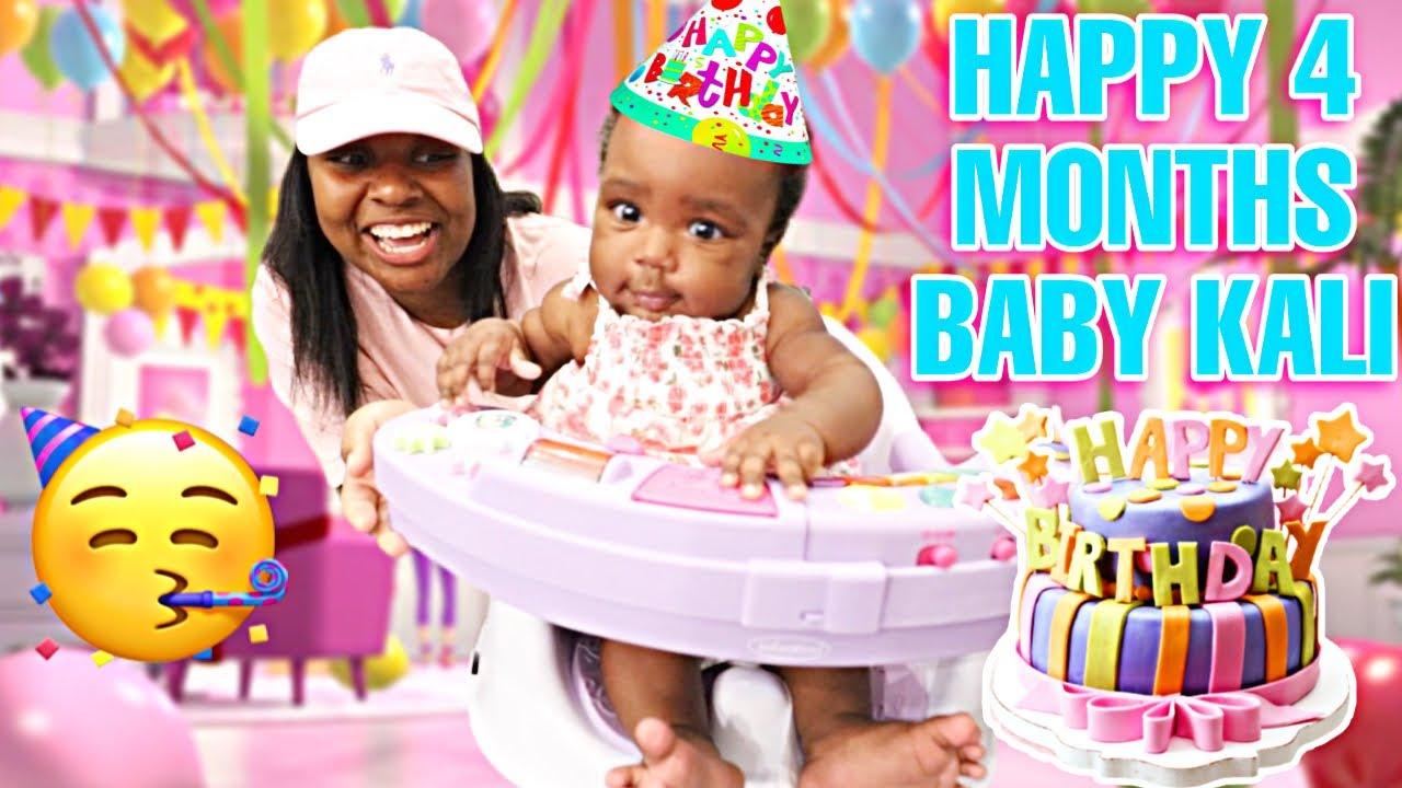BABY KALI 4 MONTHS BIRTHDAY PARTY VLOG 🥳💕