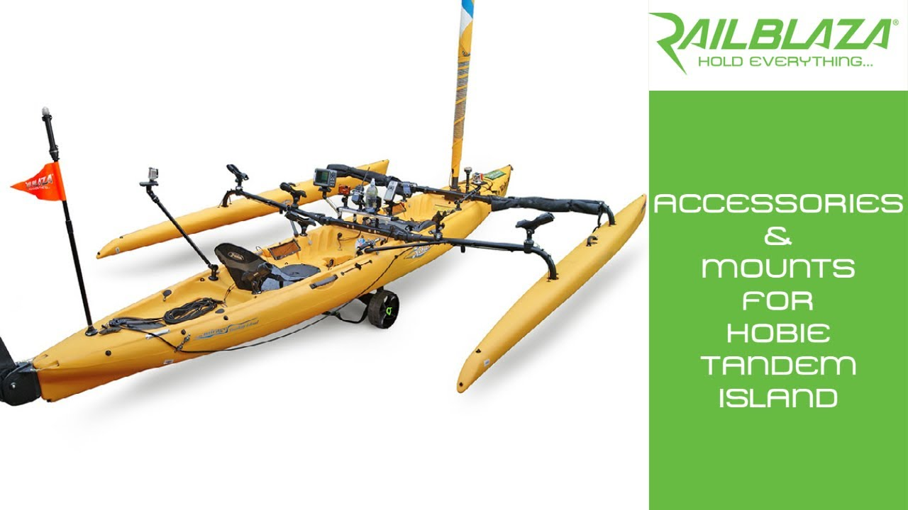 Accessories mounts for hobie tandem island fishing kayak for Kayak accessories for fishing
