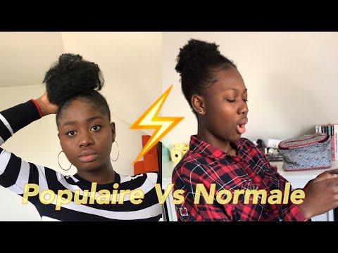 Être-populaire-vs-normale