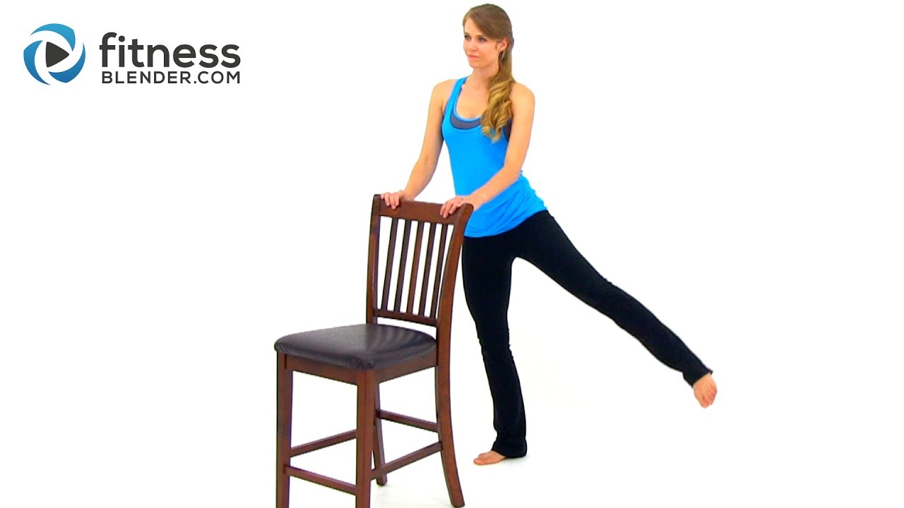 Chair Exercises For Legs - Barre workout for butt and thighs workout for lean legs and toned butt