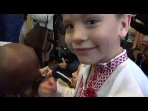 Orphans In Ukraine Get Special Visit From Lennox Lewis Evander Holyfield Shawn Porter & Vitali