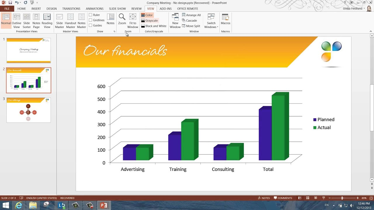 how to change theme colors in powerpoint 2013 youtube