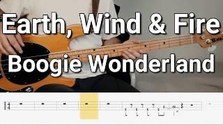 Earth, Wind & Fire - Boogie Wonderland (Bass Cover) Tabs