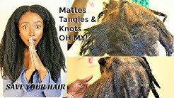 EFFECTIVELY  Detangle MATTED  KNOTTED TANGLED  Hair    Natural Hair Length Retention