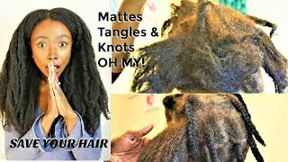 EFFECTIVELY  Detangle MATTED  KNOTTED TANGLED  Hair  | Natural Hair Length Retention