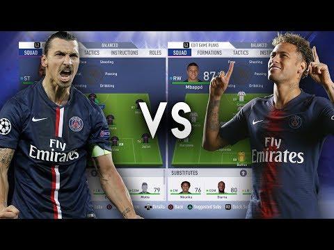 Zlatan Ibrahimovic's PSG VS Neymar's PSG - FIFA 19 Experiment