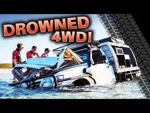 DROWNED 4WD! Our most insane recovery ever  did we rescue it? Moreton Island like youve never seen