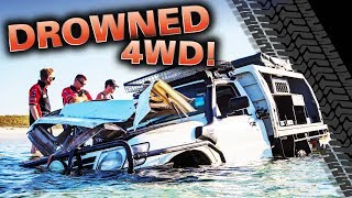 DROWNED 4WD! Our most insane recovery ever – did we rescue it? Moreton Island like you've never seen