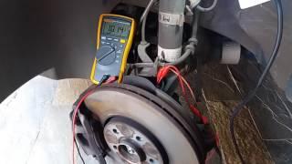Sensor ativo (Hall) do freio ABS  teste com multímetro