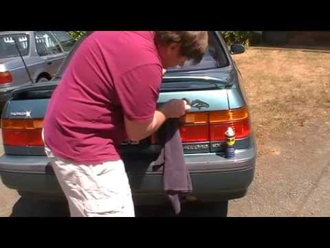 Removing stickers from your car