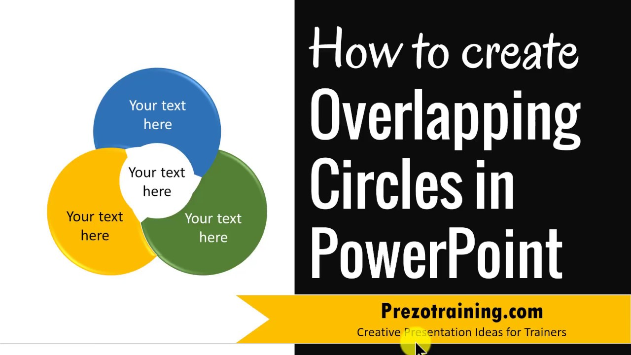 how to create overlapping circles in powerpoint  3 part