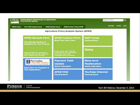 Webinar: Farm Bill Choices, December 5, 2014
