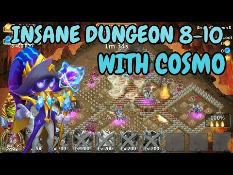Insane Dungeon 8-10 With Cosmo L Castle Clash