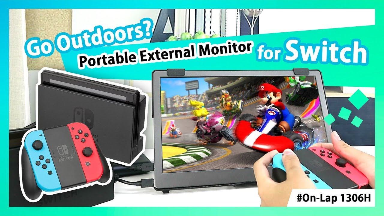 Play Nintendo® Switch in TV Mode Outdoors with 13.3-inch Portable Monitor 1306H!|GeChic