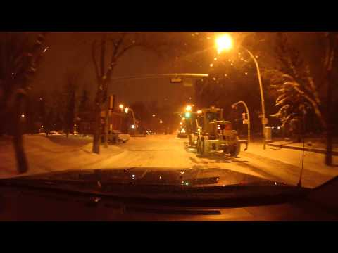 A Snowy Drive to Work in Edmonton Alberta