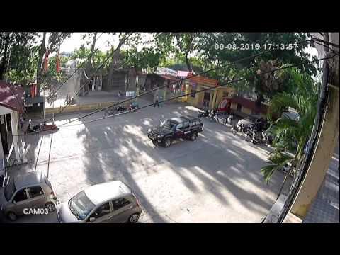 Cân cảnh cilp tai nạn giao thông tại UBND xã Tả Thanh Oai 09/ 08/ 2016
