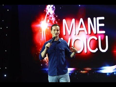 Mane Voicu a început timid şi a încheiat spectaculos numărul său de stand up!