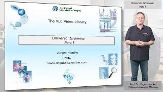 GEN120 - Universal Grammar - Part I