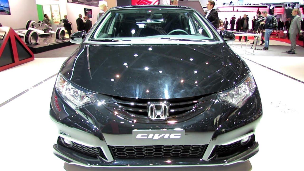 honda civic 2014 black. 2014 honda civic diesel black edition exterior and interior walkaround geneva motor show youtube