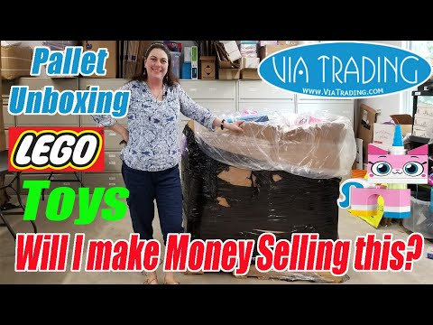 Via Trading Toys Pallet Unboxing