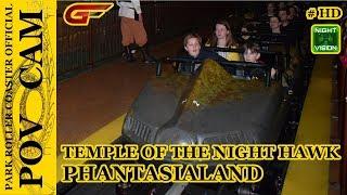 Temple of the Night Hawk - On Ride / POV CAM - (Night Vision) - Phantasialand