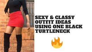 5 classy & sexy turtleneck outfit ideas