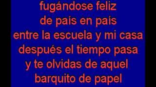 Barquito de Papel -   Serrat -  karaoke   Tony Ginzo